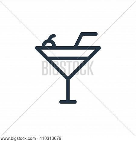 drink icon isolated on white background from holiday collection. drink icon thin line outline linear