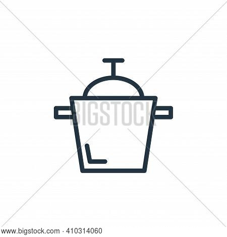 cooking icon isolated on white background from food collection. cooking icon thin line outline linea