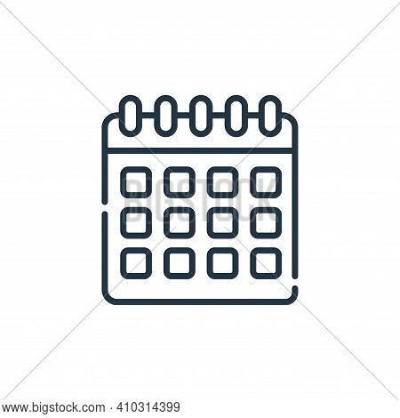 calendar icon isolated on white background from telecommuting collection. calendar icon thin line ou