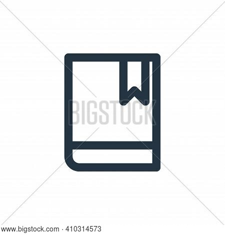 book icon isolated on white background from marketing business collection. book icon thin line outli