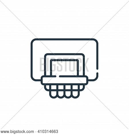basketball icon isolated on white background from children toys collection. basketball icon thin lin
