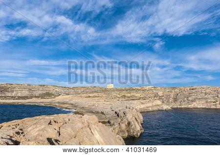 Dwajra Tower Located In Gozo Island, Malta.
