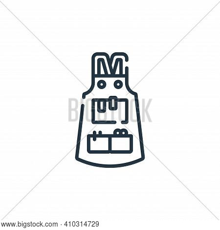 apron icon isolated on white background from hairdressing and barber shop collection. apron icon thi