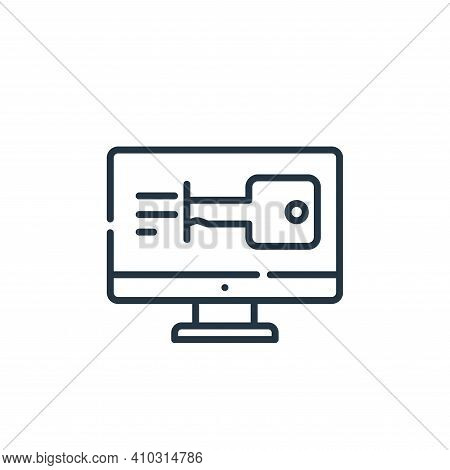 access icon isolated on white background from hacker collection. access icon thin line outline linea
