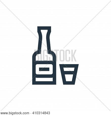 whiskey icon isolated on white background from rock and roll collection. whiskey icon thin line outl