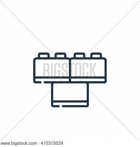 toy icon isolated on white background from plastic products collection. toy icon thin line outline l