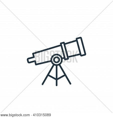 telescope icon isolated on white background from space collection. telescope icon thin line outline