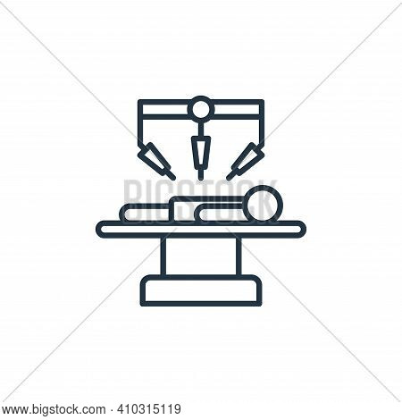 surgery icon isolated on white background from robotics collection. surgery icon thin line outline l