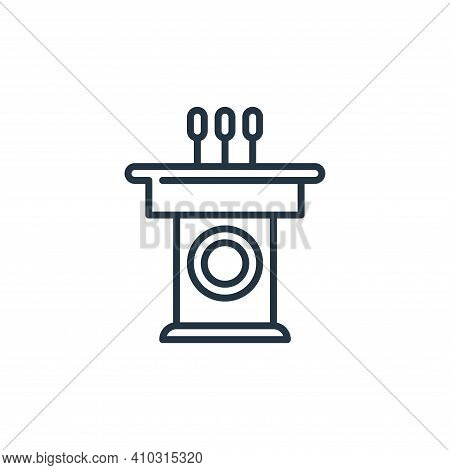speech icon isolated on white background from management collection. speech icon thin line outline l