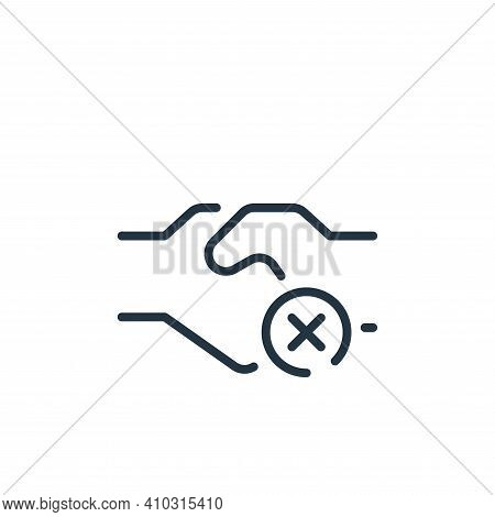 shake hands icon isolated on white background from coronavirus collection. shake hands icon thin lin