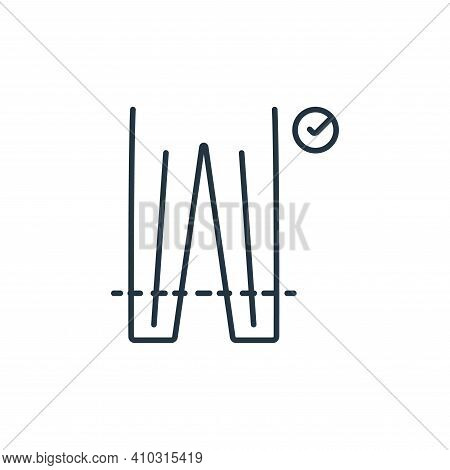 sewing icon isolated on white background from clothes and outfit collection. sewing icon thin line o