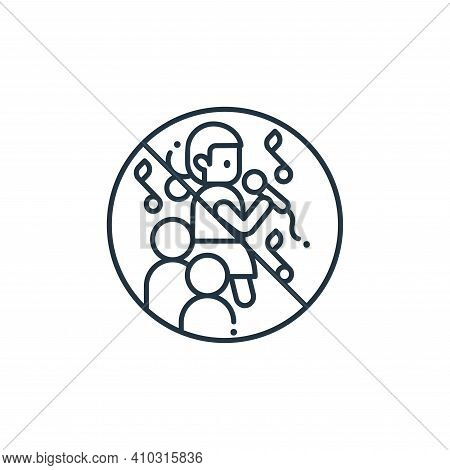 parties icon isolated on white background from coronavirus collection. parties icon thin line outlin