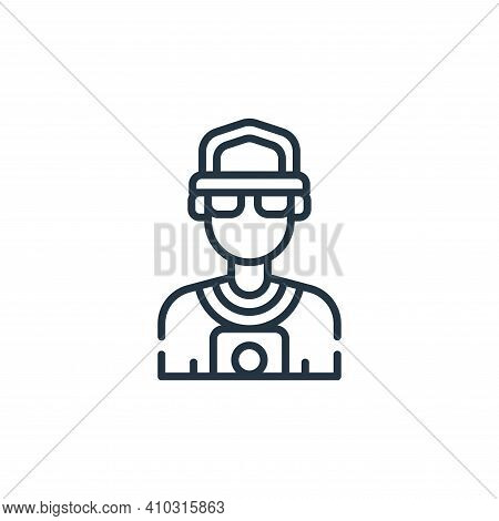 paparazzi icon isolated on white background from fame collection. paparazzi icon thin line outline l