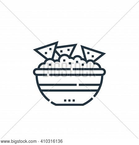 nachos icon isolated on white background from cinco de mayo collection. nachos icon thin line outlin
