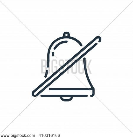 mute icon isolated on white background from user interface collection. mute icon thin line outline l