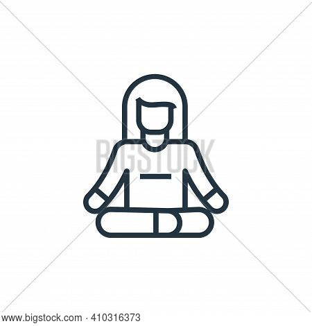 meditation icon isolated on white background from stay at home collection. meditation icon thin line