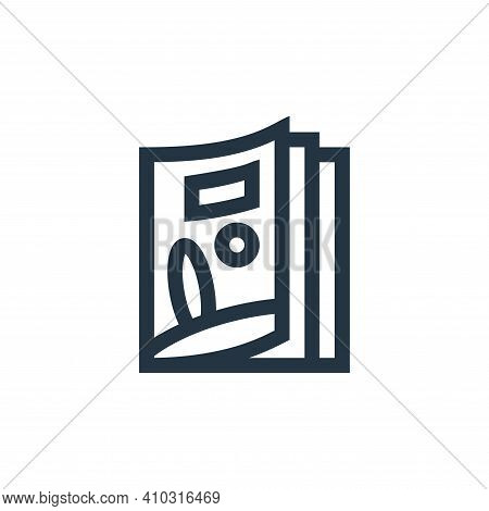magazine icon isolated on white background from news collection. magazine icon thin line outline lin