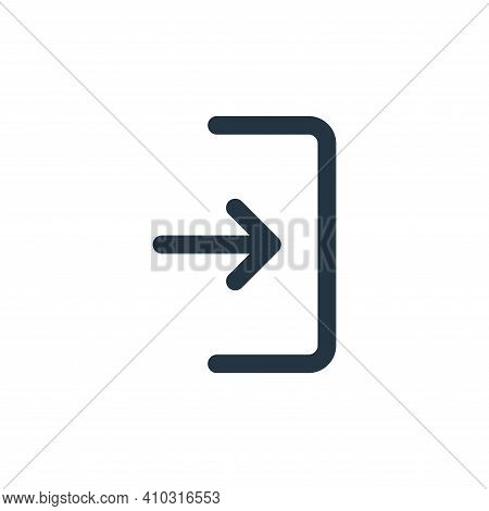 login icon isolated on white background from user interface collection. login icon thin line outline
