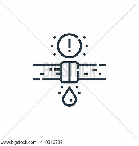 leak icon isolated on white background from smarthome collection. leak icon thin line outline linear