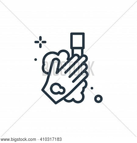 hand wash icon isolated on white background from hygiene collection. hand wash icon thin line outlin