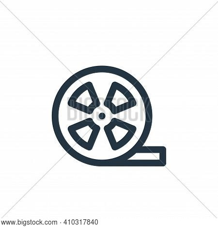 film reel icon isolated on white background from communication and media collection. film reel icon