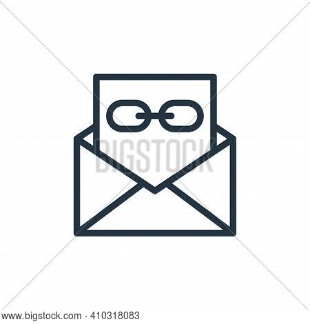 email icon isolated on white background from contact collection. email icon thin line outline linear