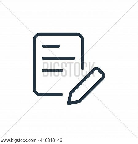 edit icon isolated on white background from work office supply collection. edit icon thin line outli
