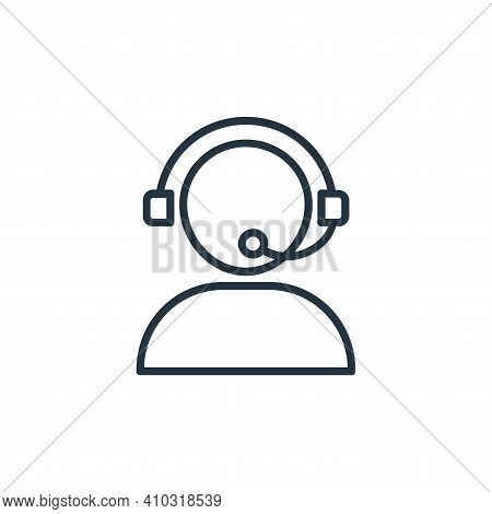 customer support icon isolated on white background from shopping line icons collection. customer sup