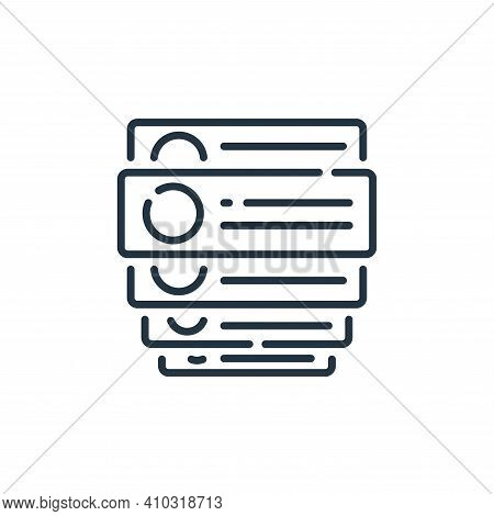 comments icon isolated on white background from social media collection. comments icon thin line out