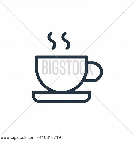 coffee cup icon isolated on white background from work office supply collection. coffee cup icon thi