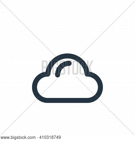 cloud icon isolated on white background from holiday collection. cloud icon thin line outline linear