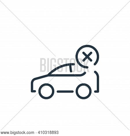 car icon isolated on white background from coronavirus collection. car icon thin line outline linear