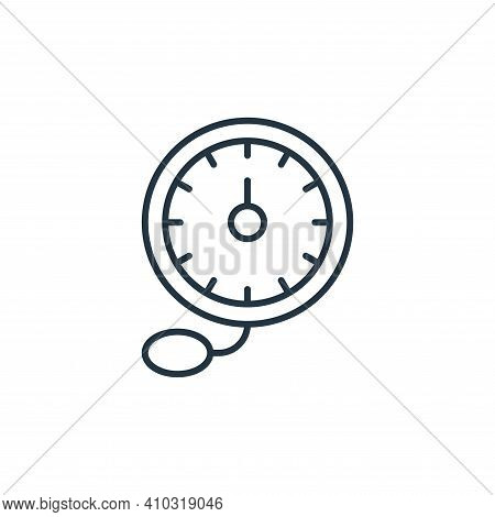 blood pressure gauge icon isolated on white background from retirement collection. blood pressure ga
