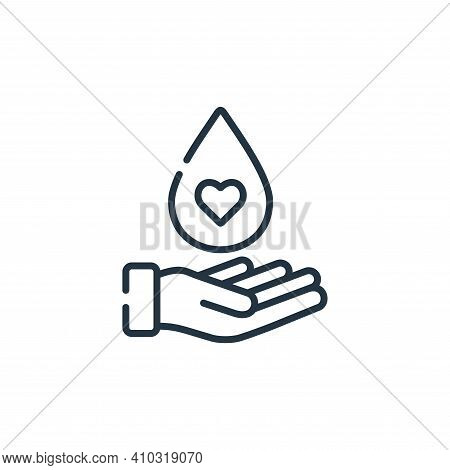 blood donation icon isolated on white background from kindness collection. blood donation icon thin