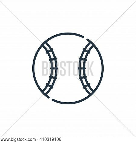 baseball ball icon isolated on white background from baseball collection. baseball ball icon thin li