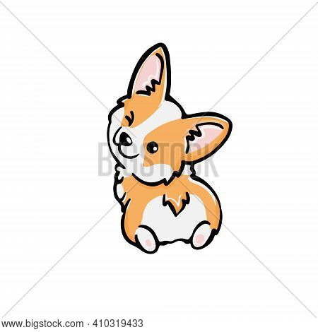Corgi Dog Cute Welsh Corgi Vector Cartoon Illustration Isolated On White Background. Funny Corgi But