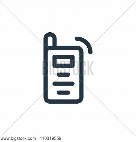 walkie talkie icon isolated on white background from emergencies collection. walkie talkie icon thin