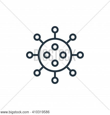 virus icon isolated on white background from stop virus collection. virus icon thin line outline lin