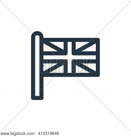 union jack icon isolated on white background from england collection. union jack icon thin line outl