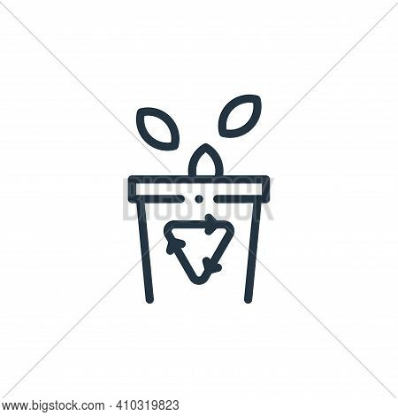 trash icon isolated on white background from ecology collection. trash icon thin line outline linear