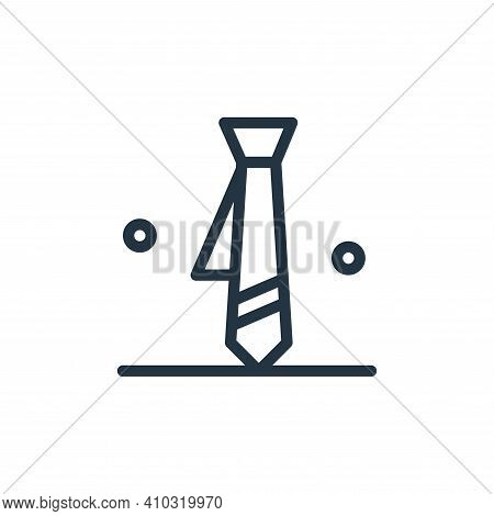 tie icon isolated on white background from business collection. tie icon thin line outline linear ti