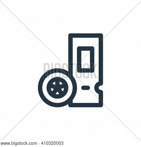 ticket icon isolated on white background from auto racing collection. ticket icon thin line outline