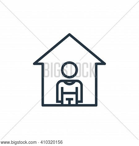 stay at home icon isolated on white background from pandemic collection. stay at home icon thin line