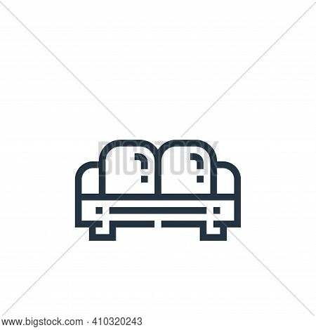 sofa icon isolated on white background from inside home collection. sofa icon thin line outline line