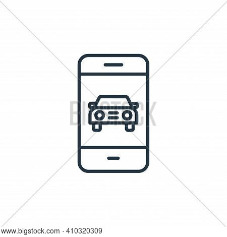 smartphone icon isolated on white background from internet of things collection. smartphone icon thi