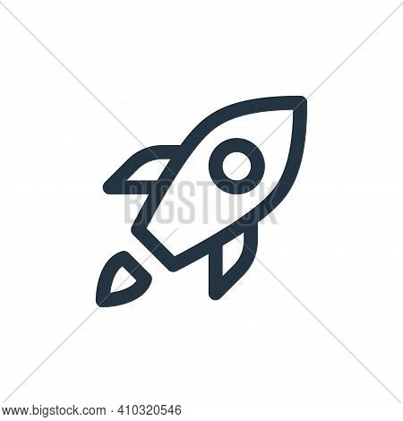 rocket icon isolated on white background from user interface collection. rocket icon thin line outli