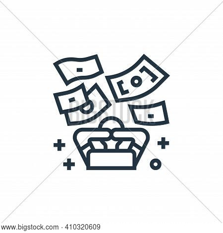 rich icon isolated on white background from economic crisis collection. rich icon thin line outline
