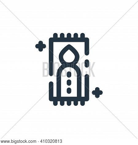 pray icon isolated on white background from ramadan kareem collection. pray icon thin line outline l