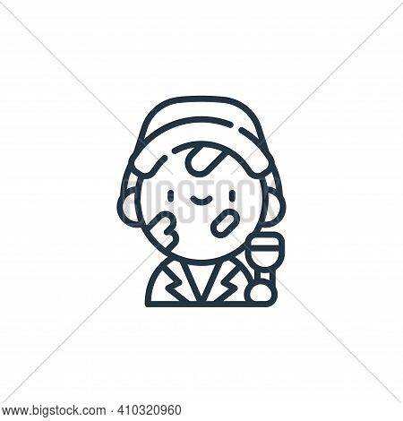 painter icon isolated on white background from labour day collection. painter icon thin line outline
