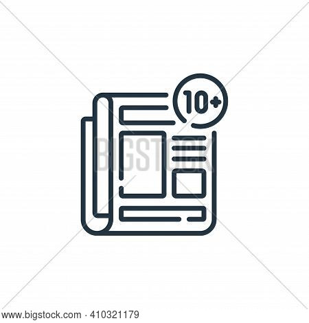 news icon isolated on white background from social media collection. news icon thin line outline lin